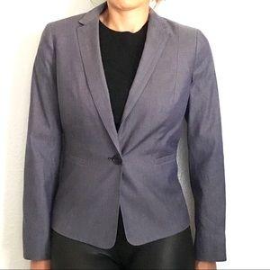 Talbots 4p cotton suit jacket blazer gray